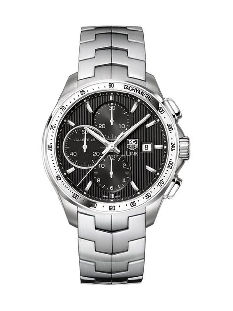 TAG Heuer Link Calibre 16 Listing: $4,725 TAG Heuer Link 100 M 43 mm Automatik-Chronograph CAT2010.BA0952, Reference number CAT2010.BA0952; Steel; Automatic; Condition New; Watch with original box; Watc