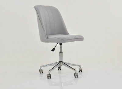 Oblek Home Office Chair Swivel Light Grey Fabric Office Chair Chair Home Office Chairs