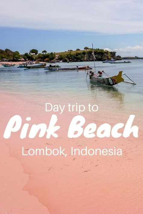 Pink Beach trip in Lombok. One of the most unique beaches we've seen. The best part? The journey to get there, meeting welcoming locals an admiring the changing pink hue of the sand. | what to do in Lombok | Lombok activities | Best things to do in Lombok | Indonesia | Southeast Asia | #lombok #indonesia #southeastasia #adventuretravel #beach #paradise