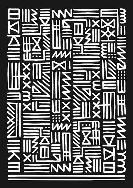 Art Monkey - monochrome tribal by kate moross