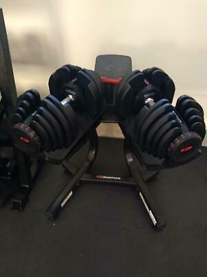 Ad Ebay Bowflex Selecttech 1090 Dumbbells Series 2 With Stand Bowflex Adjustable Dumbbell Set Adjustable Dumbbells