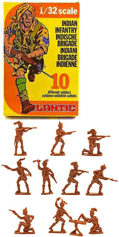 W Britain 52008 WWII British Infantry Set Hand-Painted Plastic w//metal base