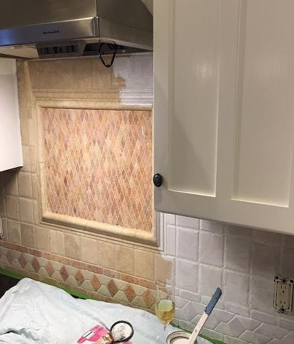 Back Splash Painted Kitchen In 2019 Kitchen Tiles Kitchen Tiles