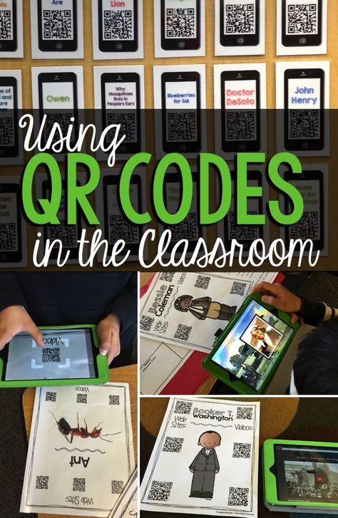 Using QR Codes in the Classroom enhances learning. Find out different ways to give students access to web sites and use QR Codes for research. QR Codes are a great idea for any classroom.