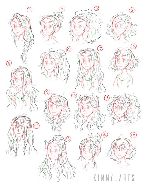 Kimmys art — These are various character exploration pieces. Hair Reference, Drawing Reference Poses, Drawing Tips, Drawing Ideas, Anime Drawing Tutorials, Anime Drawings Sketches, Cute Drawings, Drawings Of Hair, Anime Hair Drawing