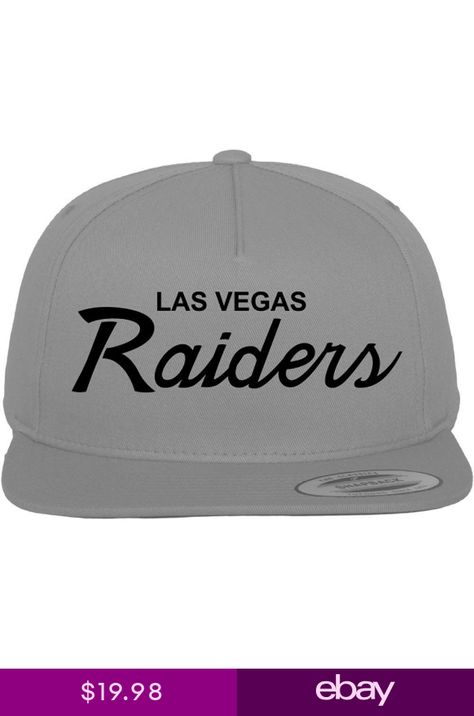 Las Vegas Raiders Script NFL Custom EMBROIDERED Snapback Hat