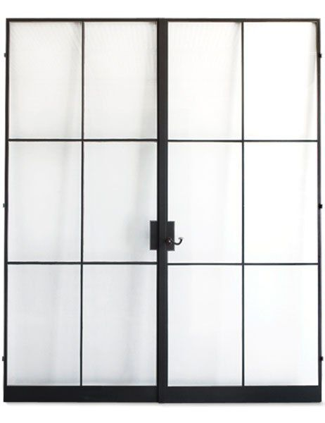 Atelier Domingue's handcrafted steel-frame doors channel a spirit of modern elegance