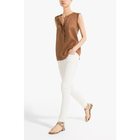 Massimo Dutti Short-Sleeve Ramie Shirt (€44) found on Polyvore