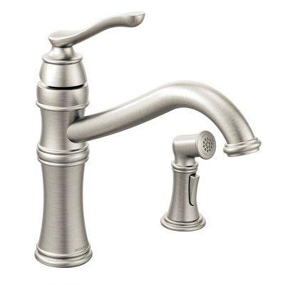 Moen 7245 Belfield High Arc Single Handle Kitchen Faucet With Side