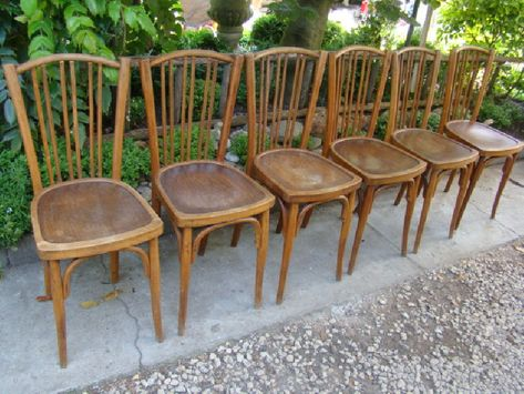 Lot De 6 Chaises Thonet Vintage Vintagestyle Wood Chair Furniture Thonet Furniture Design Deco Homedecor Home Love Beaut Chaises Thonet Chaise Deco