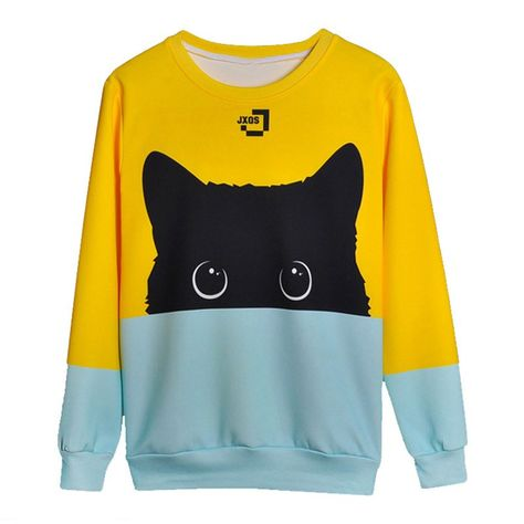 Adorable Kitty Sweatshirt and like OMG! get some yourself some pawtastic adorable cat apparel!