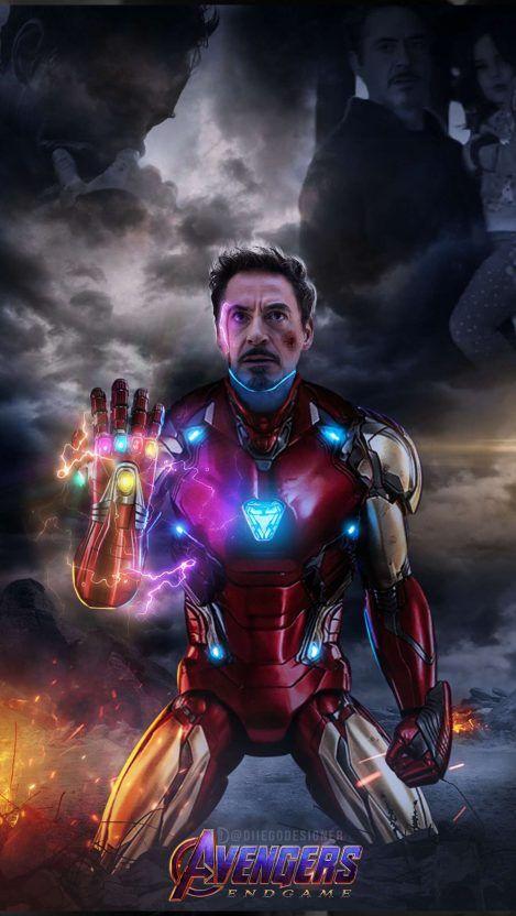 Tony Stark Snap Infinity Stones Iphone Wallpaper Fondo De