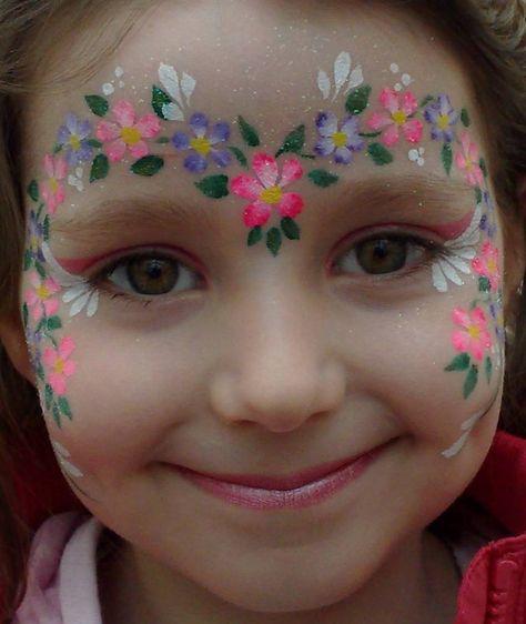 Fairy Face Painting | little fairy with flower on face.jpg (38794 bytes)