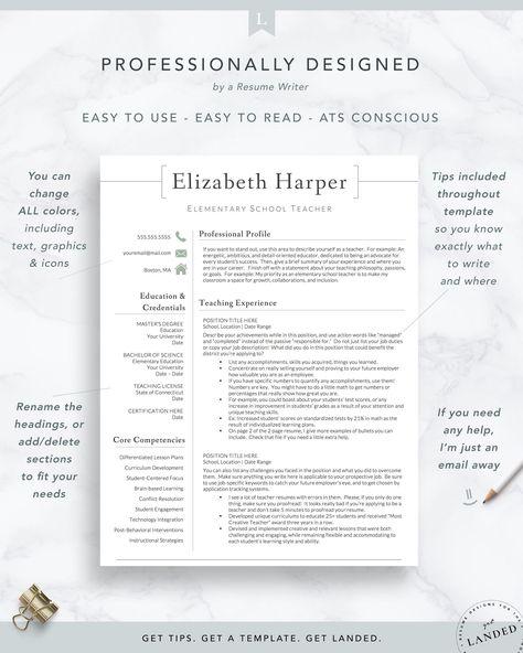 Teacher, Administrator Resume Template   The Harper