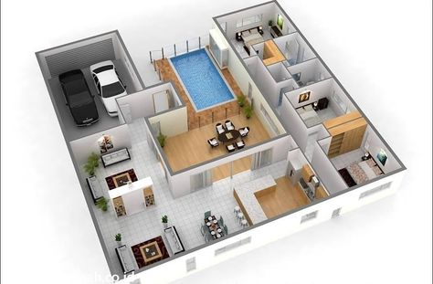 Desain Rumah Minimalis Dan Kolam Renang Di 2020 Rumah Minimalis