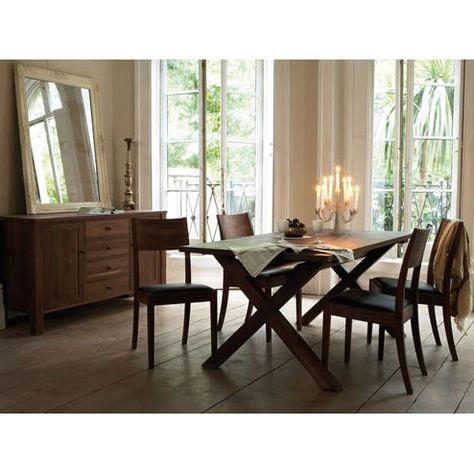 Beautiful walnut sideboard & dining room arrangement.