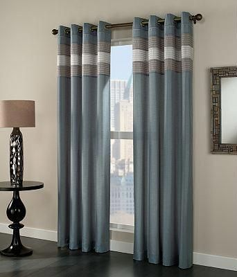 Blue And Brown Curtains I Like The Style Need More Of A Teal