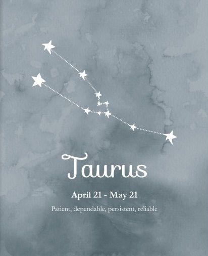 Taurus ~ patient, dependable, persistent, reliable