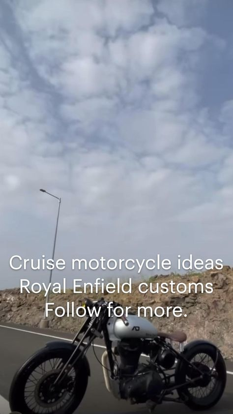 Cruise motorcycle ideas  Royal Enfield customs  Follow for more.