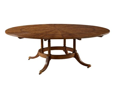 Image Of 60 Round Dining Table With Six Perimeter Leaves