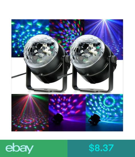 Rgb Led Crystal Magic Ball Stage Effect Lighting Lamp Party Disco Club Dj Ebay Electronics With Images Disco Ball Light Led Stage Lights Crystal Magic Ball