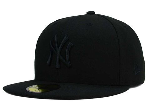 637cc4c4044 New York Yankees New Era MLB Blackout 59FIFTY Cap