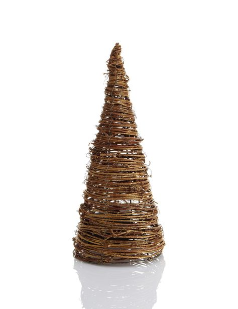 LED Light-up Rattan Effect Cone Tree Christmas Room Decoration