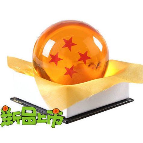 Anime Dragon Ball Z Crystal Ball Four 4 Stars New in Gift Box Diameter 7.5cm