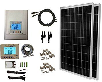Windynation 200 Watt 2pcs 100 Watt 12 24 Volt Solar Panel Mppt Solar Charge Controller Complete Solar Panel Kits Solar Energy Panels Solar Panels For Home