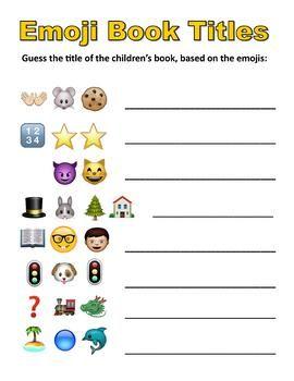 Emoji Book Titles Quiz Library Summer Reading Program Passive Programming Library Library Themes