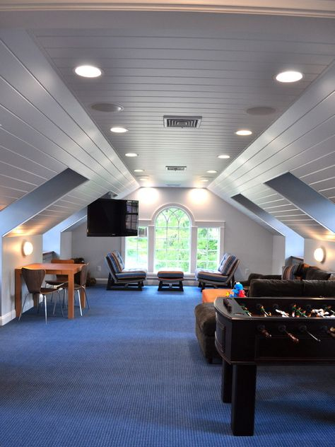 Maybe someday convert our attic to a game/teen hangout. We've done bigger projects before. How sweet would this be at 15?  Kids Design, Pictures, Remodel, Decor and Ideas - page 23