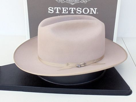 Stetson Cowboy Hat 4X Beaver Felt Silverbelly Open Road  21fdeac8e77