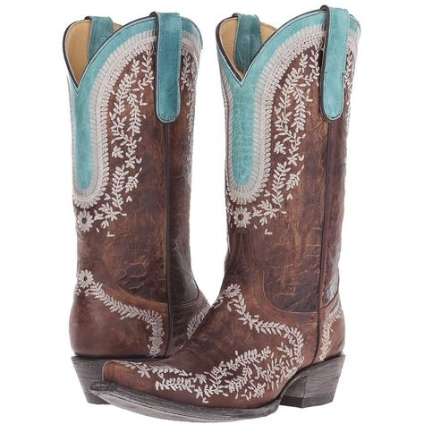 86fe5635721 Old Gringo Bengala (Brass) Cowboy Boots ( 285) ❤ liked on Polyvore featuring