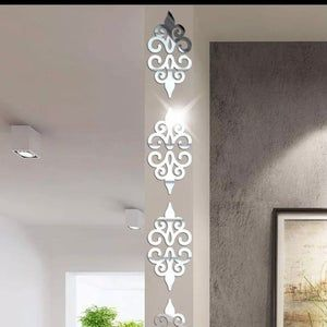 10Pcs 3D Mirror Wall Stickers Home Decor Self Adhesive Removable Acrylic Decals