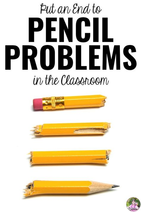 Pencil problems in the classroom? Solve them for good with this simple pencil solution that will save you money and time! You'll never have pencil problems again! #pencilproblems #classroom #teaching