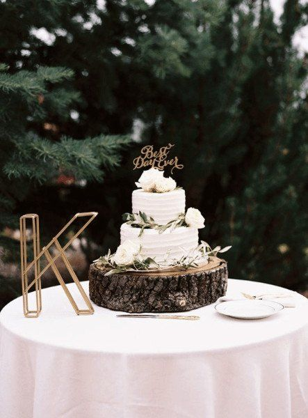Rustic Wedding Cake Idea Two Tier Buttercream Wedding Cake