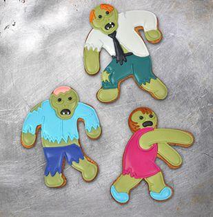 DIY Halloween treats: Zombie cookie cutters. So fun!