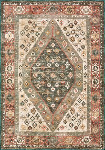 Oriental Weavers Toscana 9545d Orange Blue Area Rug Oriental Weavers Orange Area Rug Blue Area Rugs