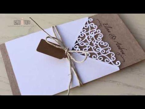 Partecipazioni Matrimonio Youtube.Diy Shabby Chic Wedding Invitation Card Partecipazione