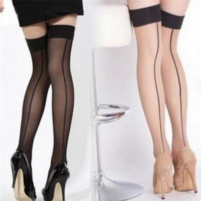 Footed Tights Long Socks Black Tights Back Seam Tights Stockings Pantyhose