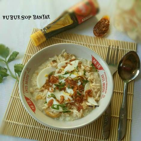 Resep Bubur Ayam Khas Banjar Bubur Sop Oleh Icha Annisa Septiana Resep Makanan Sehat Masakan Korea Fotografi Makanan