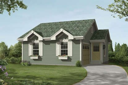 House Plan 5633 00240 Ranch Plan 771 Square Feet 1 Bedroom 1 5 Bathrooms In 2020 Ranch House Plan House Plans Cottage Floor Plans