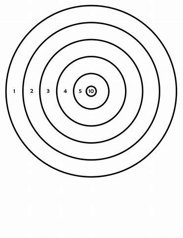 photograph relating to Printable Shooting Targets 8.5 X 11 identified as Pistol Aims Printable for 8.5X11 Objectives (printable