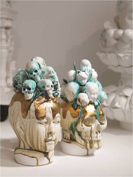 Lee Yun Hee Is A Very Popular Korean Ceramic Artist Her Ceramic Works Consists Of Layers Of Variously Sized Units A Pottery Sculpture Clay Art Ceramic Artists