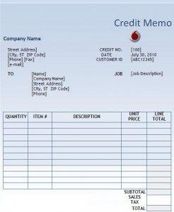 Free Credit Note Sample Credit Note Credits Notes