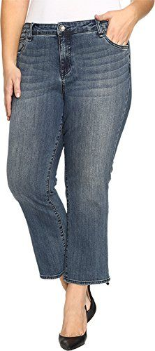 9ff9aa033ab KUT from the Kloth Women s Plus Size Reese Crop Flare Jeans in Perfection  Perfection Jeans 24W