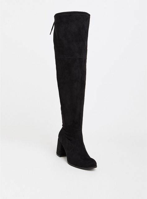 d8db642263a Plus Size Black Faux Suede Over the Knee Boot (Wide Width   Wide Calf)