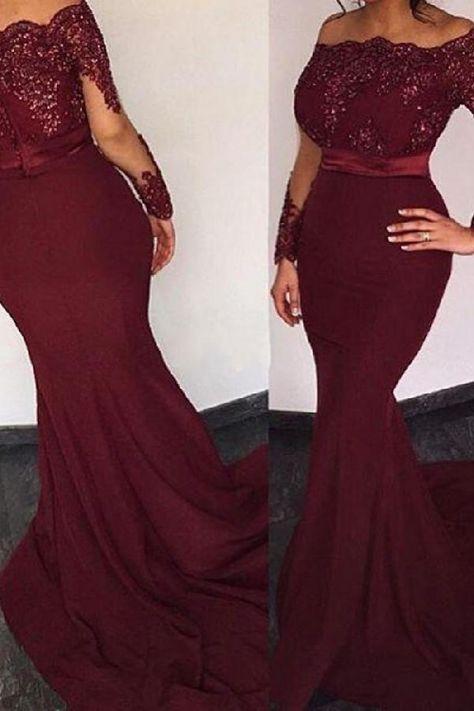089fc0b9fd Customized Light Long Sleeves Prom Dresses