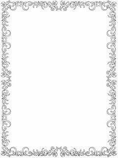flower frame border to color | Borders for paper, Doodle ...