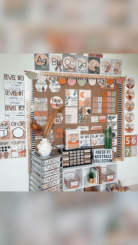 Desert Neutrals Classroom Decor! Shop these looks on my Teachers Pay Teachers and follow me on Insta